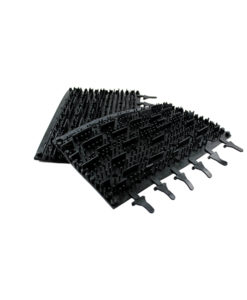 Pool Butler Rubber Brushes Pair Black Tomcat Replacement Part # 3002b