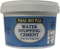 Perma Wet Plug Water Stopping Cement